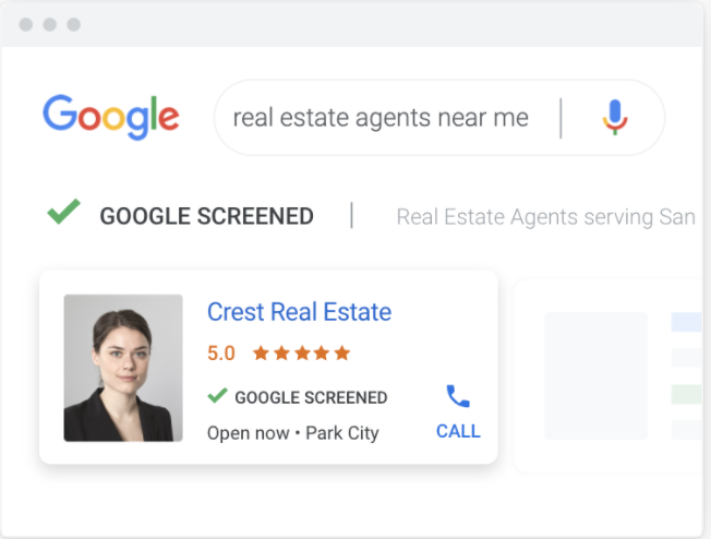 Example of a Google Ads local service ad