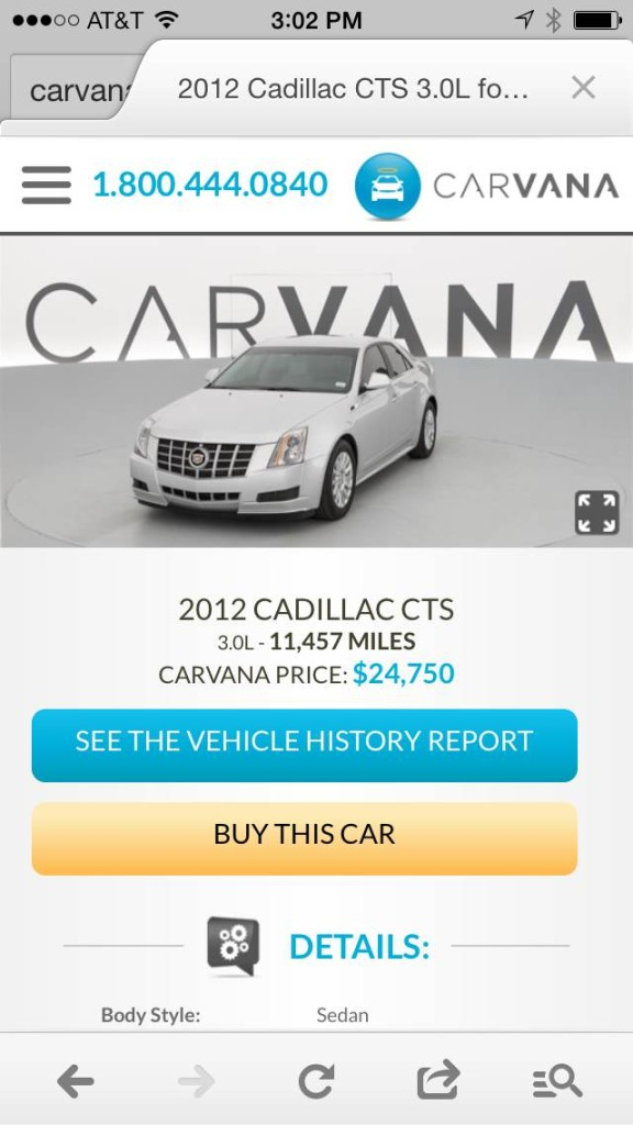 Carvana mobile