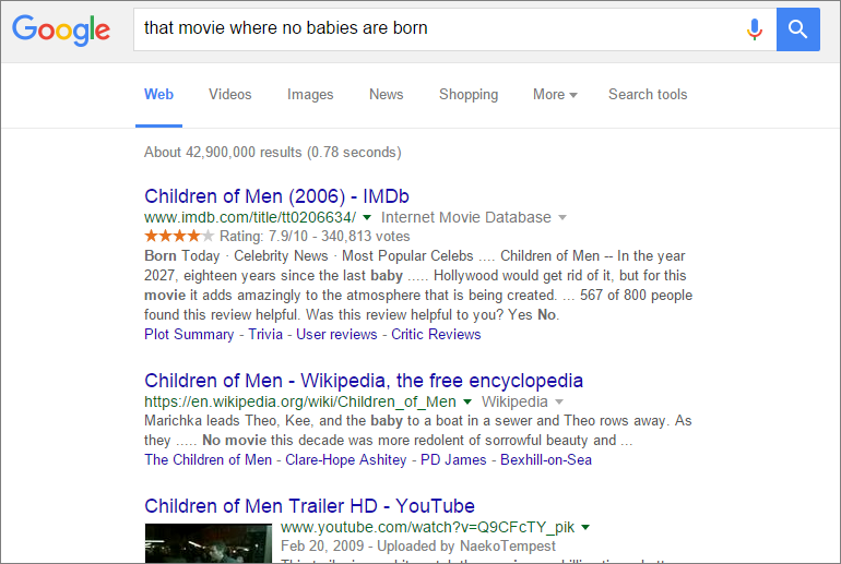 children of men google serp
