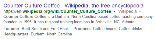counter culture coffee wikipedia result