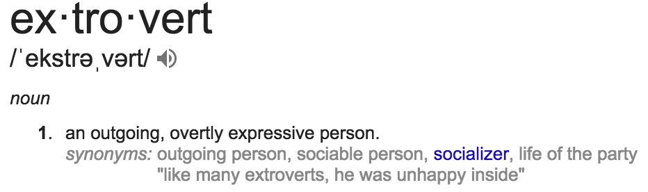 Image result for extrovert definition