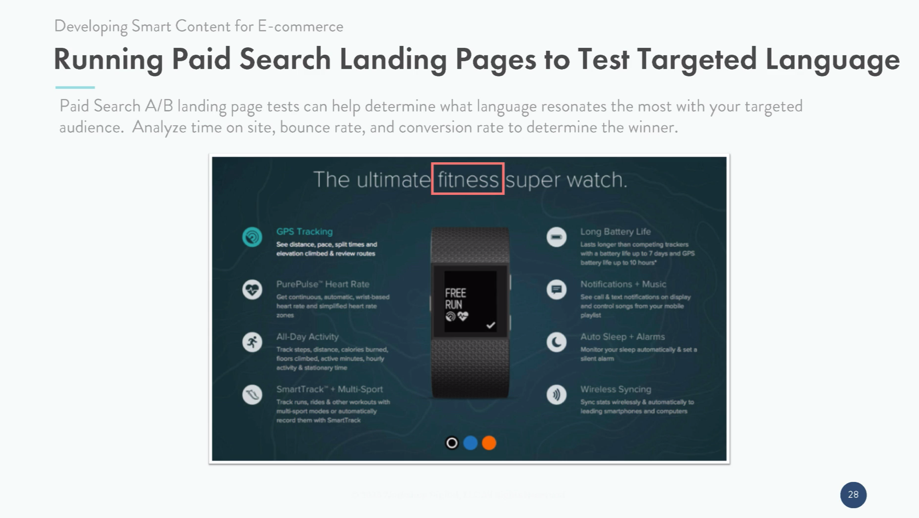 Running Paid Search Landing Pages to Test Targeted Language